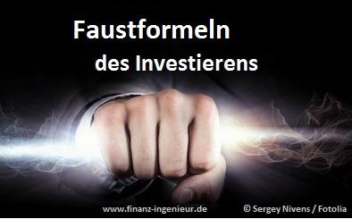 Diese Faustformeln des Investierens sollte man unbedingt kennen!
